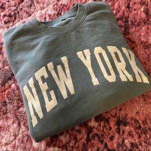 Brandy Melville Erica New York sweatshirt in sage